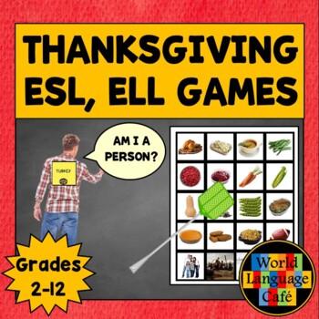 ESL, ELL, EFL, ELD Thanksgiving Games