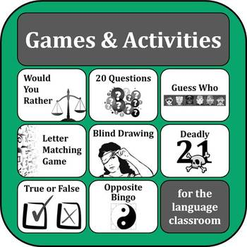 ESL ELL EFL Games Bundle