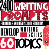 ESL/ELL/ELA 2400 Writing Prompts   For Teens   MEGA BUNDLE