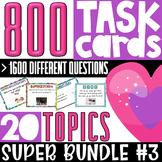 ESL/ELL/ELA Conversation Starter Task Cards   SUPER BUNDLE#3   For Teens