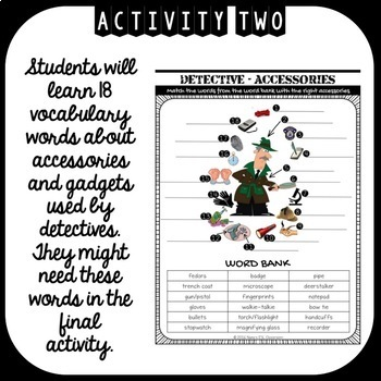 SHERLOCK HOLMES ESL activities (speaking, reading, writing and vocabulary)