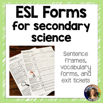 ESL ELL Forms for Science