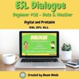 ESL/ELL Newcomer Conversation Dialogue 02| Date and Weather | Google Slides