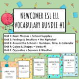 ESL ELL ELD Newcomer Digital Vocabulary 5 Unit Bundle #1 for Distance Learning