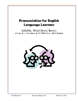 ESL/ELL Pronunciation: Syllable and Word Stress Patterns and Practice