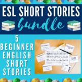 ESL / ELL Short Stories Set + Boom Cards Bundle | Level: Beginners