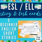 ESL / ELL Short Stories Set + Reading Comprehension | Level: Beginners
