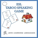 ESL - ELL Taboo Speaking Game, House and Home Vocabulary