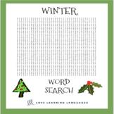 ESL-ELL Winter Vocabulary Word Search