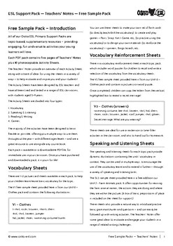 ESL/ELT Activity Pack - ages 5-8 years - free sample pack