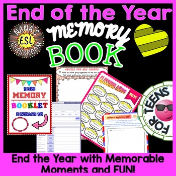 ESL/ELL: END OF YEAR ACTIVITY - MEMORY BOOKLET