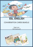 ESL ENGLISH Conversation Cards Beginner Bundle