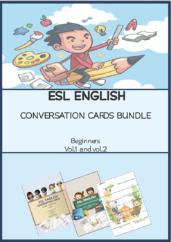 ESL ENGLISH Conversation Cards Beginner Bundle