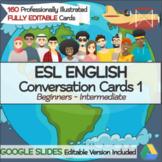 ESL ENGLISH  Conversation Cards 1 (Fully Editable|Google Slides)