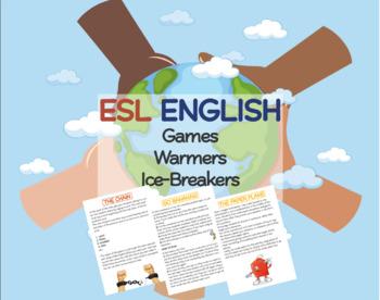 ESL ENGLISH Games Warmers Ice-breakers Minipack 1