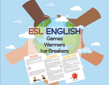 ESL ENGLISH Games Warmers Ice-breakers Minipack 1