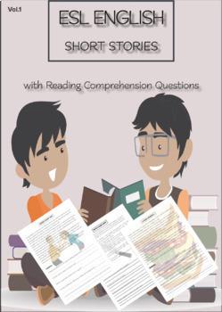 ESL ENGLISH SHORT STORIES + Questions VOL.1: Levels: Beginner - Intermediate