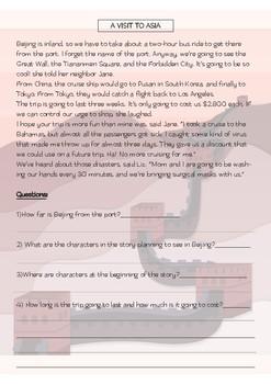 ESL ENGLISH SHORT STORIES + Questions VOL.2: Levels:  Intermediate