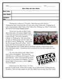 ESL ENL Black Friday and Cyber Monday Reading