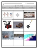 ESL ENL Cold, Winter and Snow Worksheet with Answer Key