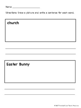 ESL/ENL Easter Vocabulary Activities