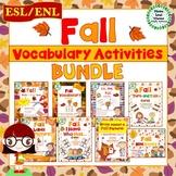 ESL/ENL Fall Vocabulary Activities BUNDLE