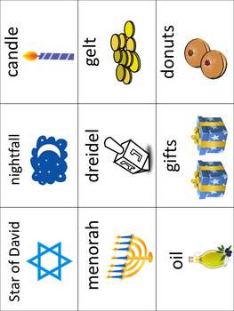 ESL/ENL Hanukkah Vocabulary Activities