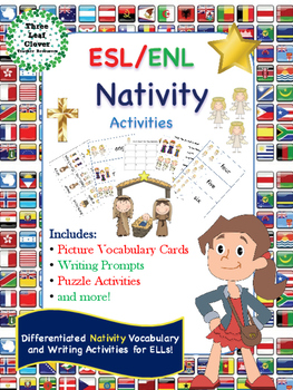 ESL/ENL Nativity - Christmas Vocabulary Activities