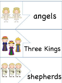 ESL/ENL Nativity - Christmas Vocabulary Activities