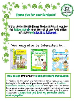 ESL/ENL St. Patrick's Day Vocabulary Activities