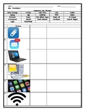 ESL ENL Technology Vocabulary Picture Worksheet with Answer Key