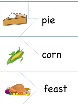 ESL/ENL Thanksgiving Vocabulary Activities