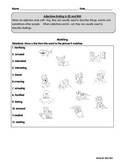 ESL / ESOL Adjectives Ending in ED and ING worksheets