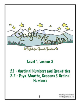 ESL, ESOL, EFL for Spanish Speakers Lesson 2 (Using Numbers)