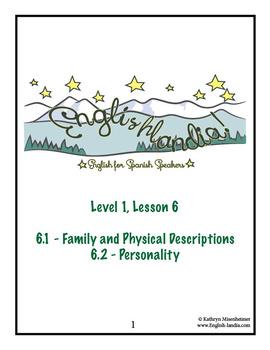 ESL, ESOL, EFL for Spanish Speakers Lesson 6 (Family)