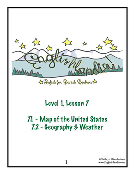 ESL, ESOL, EFL for Spanish Speakers Lesson 7 (Map of US, Geography, Weather)
