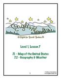 ESL, ESOL, EFL for Spanish Speakers Lesson 7 (Map of US, G