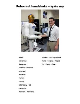ESL/ESOL, STEM, robot, astronaut, technology, International Space Station, NASA