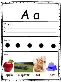 ESL Early Literacy Worksheet