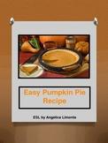 ESL: Easy Pumpkin Pie Recipe Lesson