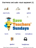 ESL Electronics & Audio Visual Worksheets, Games, Activities, Flash Cards&More 1