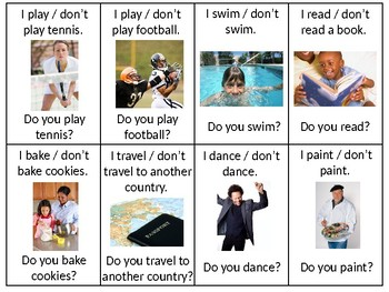 ESL Elementary: Activities Vocabulary and Speaking Questions