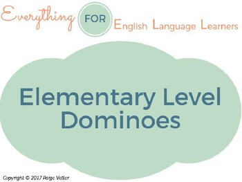 ESL Elementary: Vocabulary Dominoes