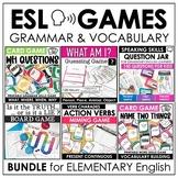 ESL Games Bundle Elementary Grammar and Vocabulary Buildin