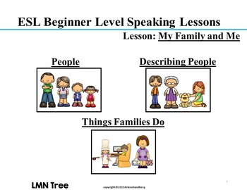 ESL Elementary Lesson: My Family and Me