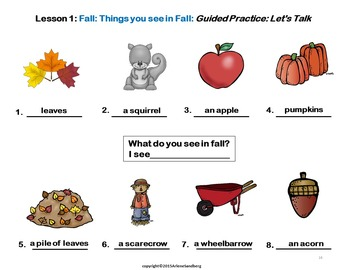 ESL Elementary Lessons: The Four Seasons