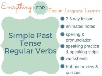 ESL Elementary: Simple Past Regular Verbs
