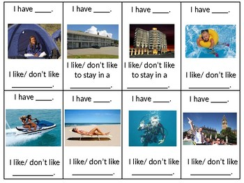 ESL Elementary: Vacation Vocabulary and Speaking Questions