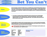 ESL English Activity & Game - BET YOU CAN'T