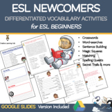 ESL Newcomers: Vocabulary Games & Differentiated Activitie